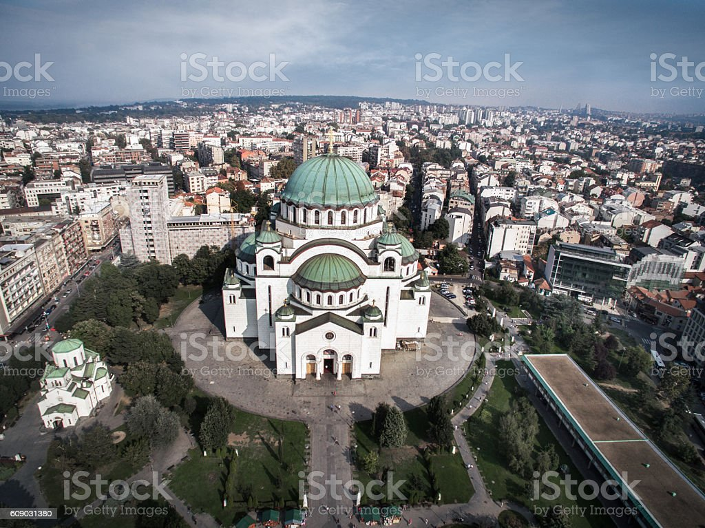 Saint Sava Temple stock photo