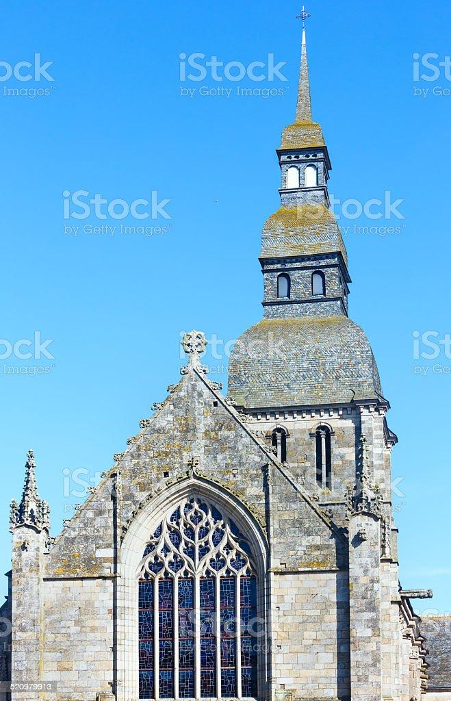 Saint Saviours Basilica, Dinan, France stock photo