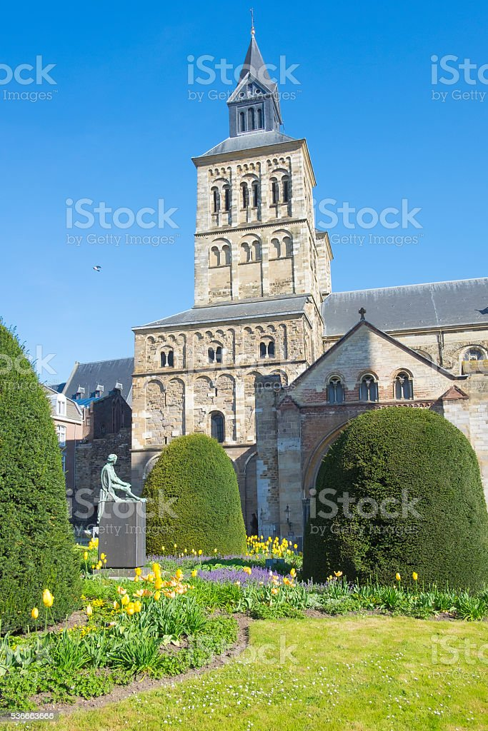 Saint Servatius Basilica  in Maastricht stock photo