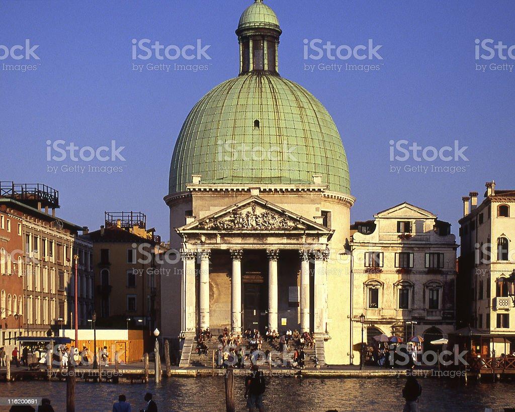 Saint Simeon Piccolo Church in Venice, Italy stock photo