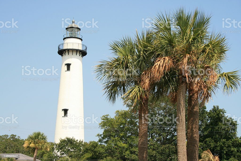 Saint Simons Lighthouse stock photo