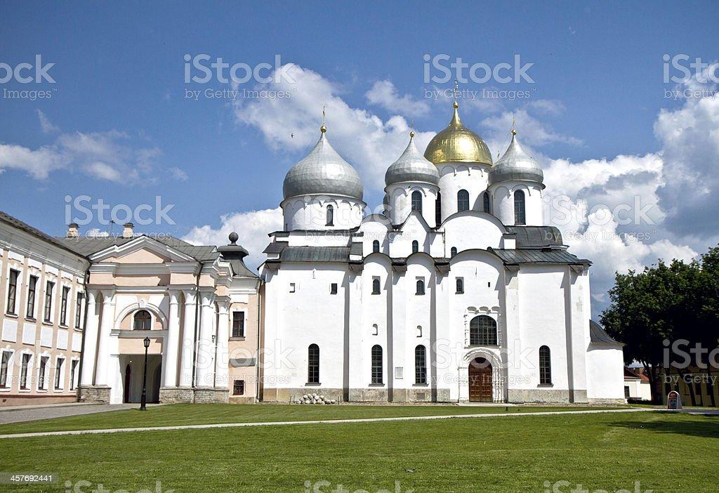 Saint Sophia Cathedral in Veliky Novgorod, Russia royalty-free stock photo