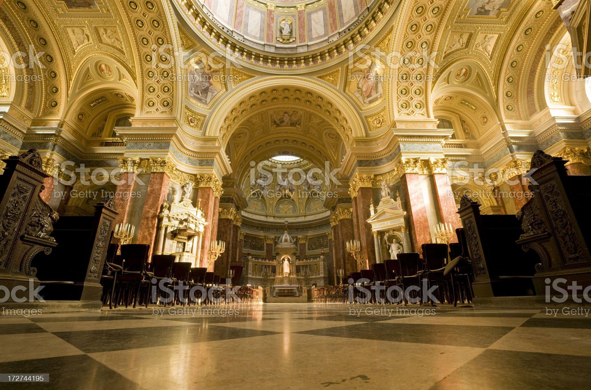 Saint Stephen Basilica in Budapest royalty-free stock photo