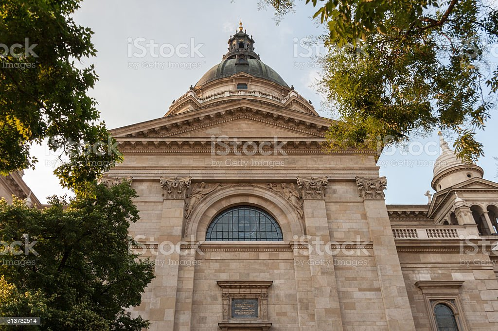 Saint Stephen cathedral side stock photo