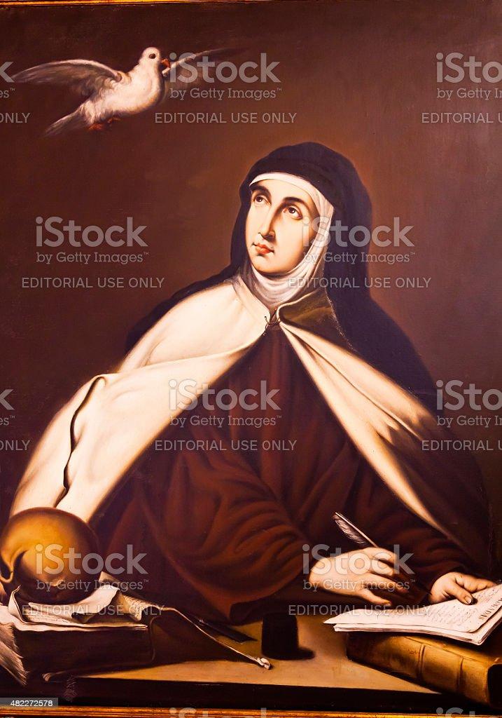 Saint Teresa Convento de Santa Teresa Avila Castile Spain stock photo