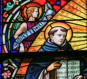 Saint Thomas Aquinas - Stained Glass