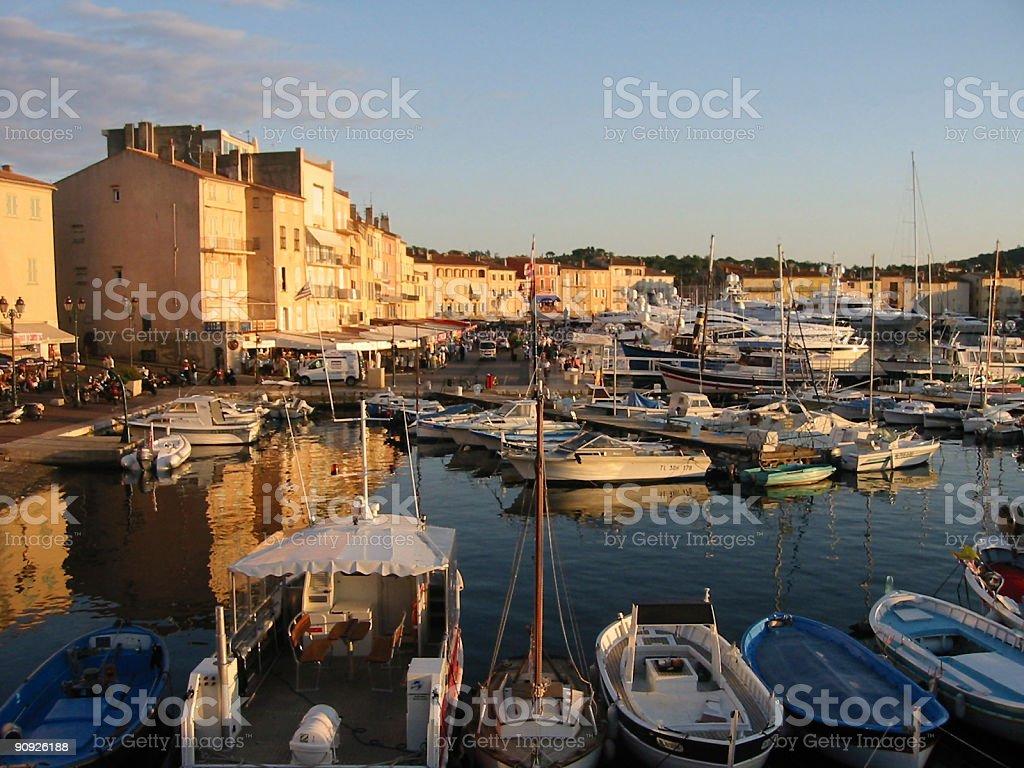 Saint Tropez Boulevard stock photo