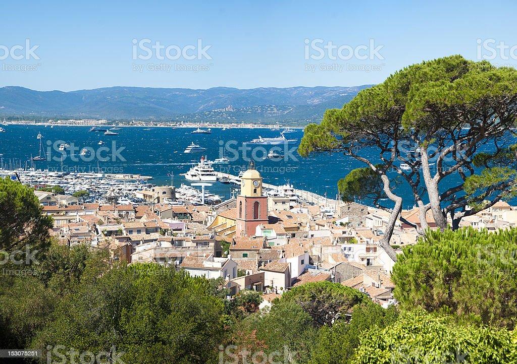 Saint Tropez city, France stock photo