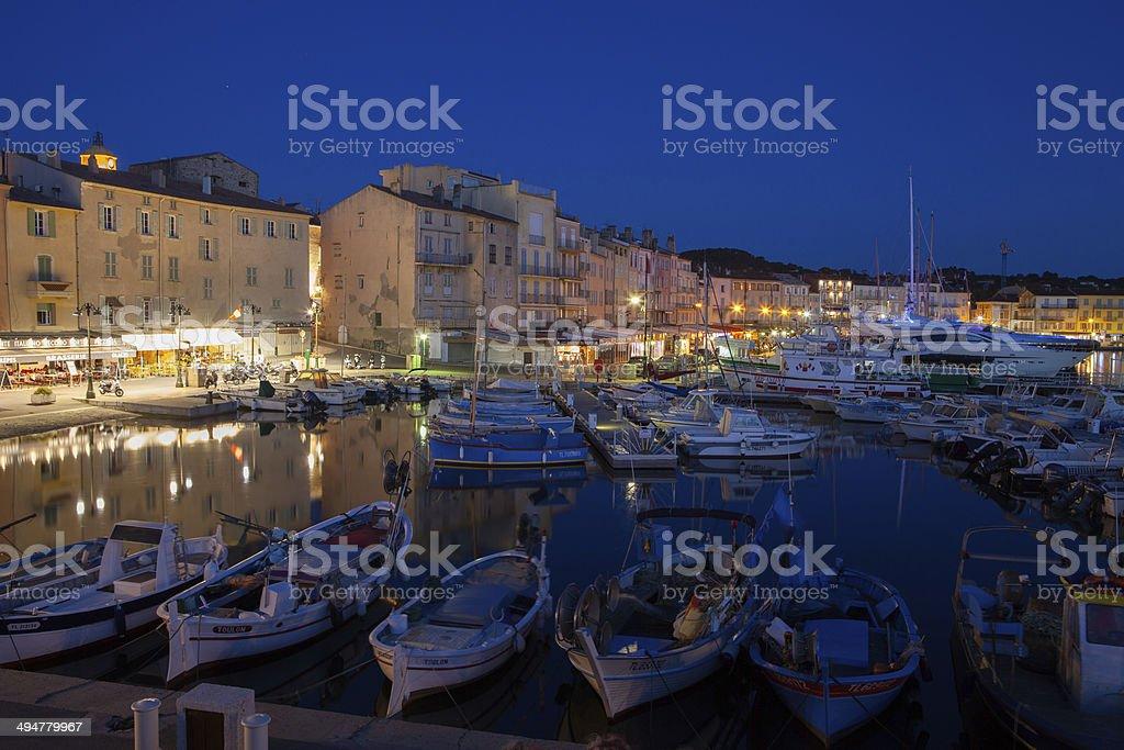 Saint Tropez Harbor, France stock photo