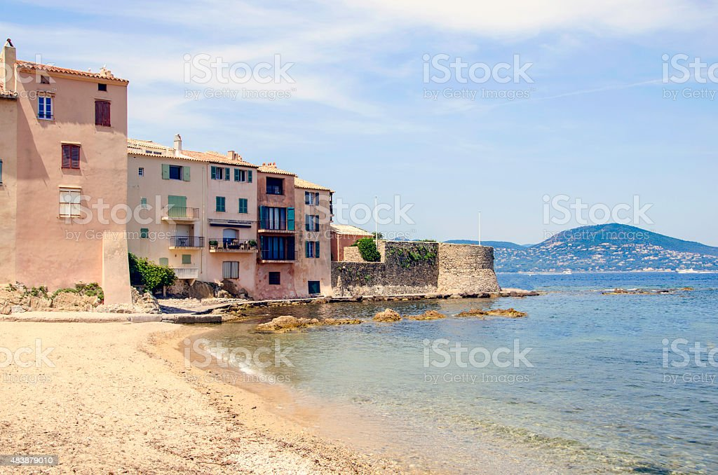 Saint Tropez in France stock photo
