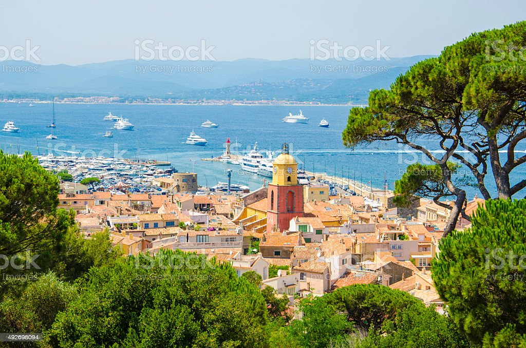 Saint Tropez town impression stock photo