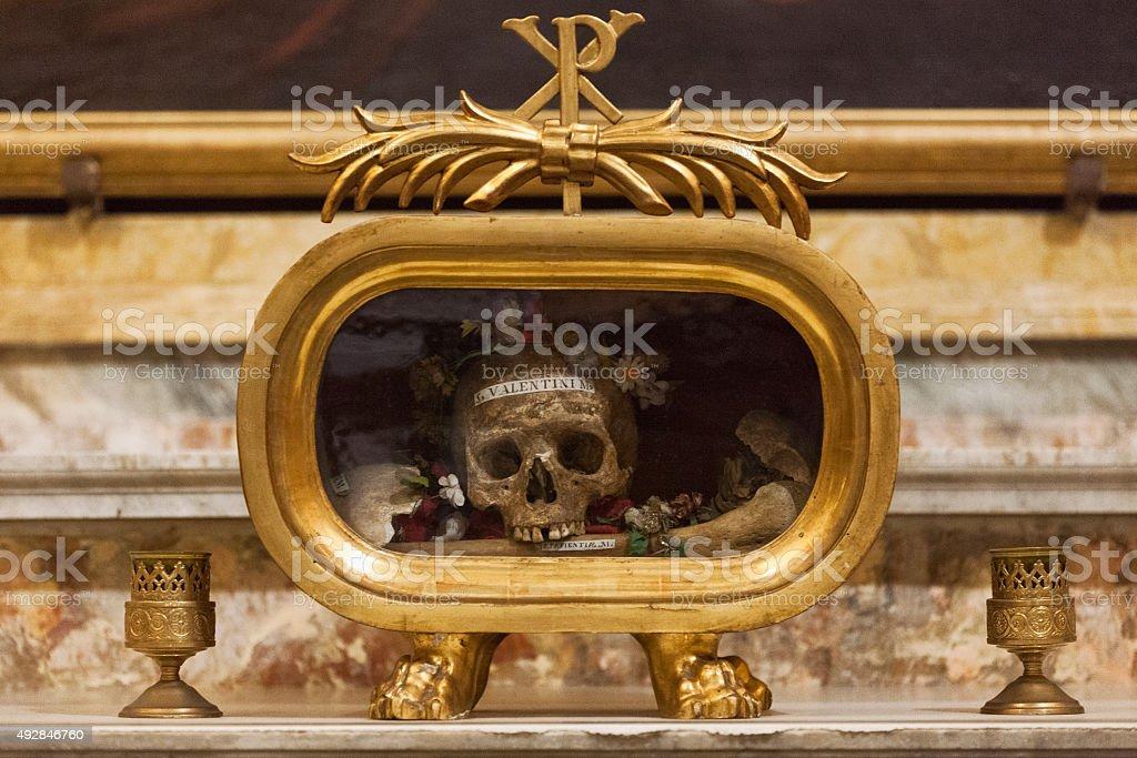 Saint Valentine's Skull stock photo