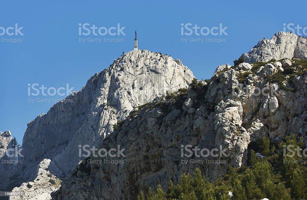 Saint Victoire mountain near Aix en Provence stock photo