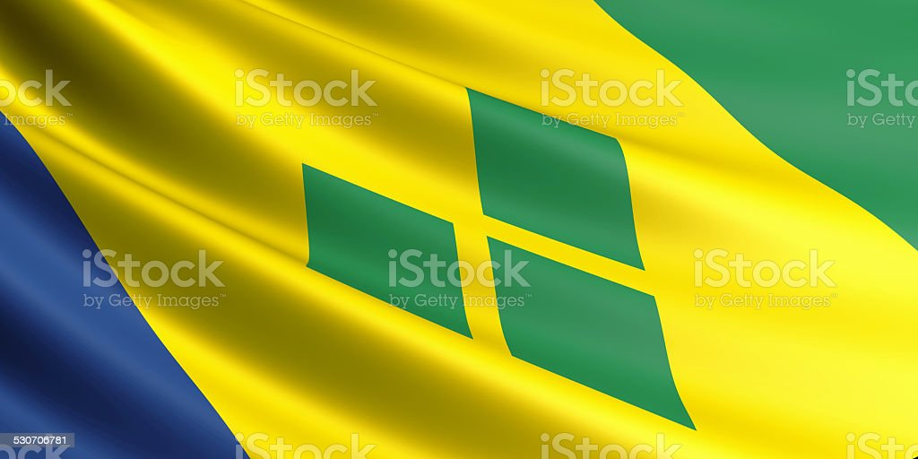 Saint Vincent and Grenadines flag. stock photo