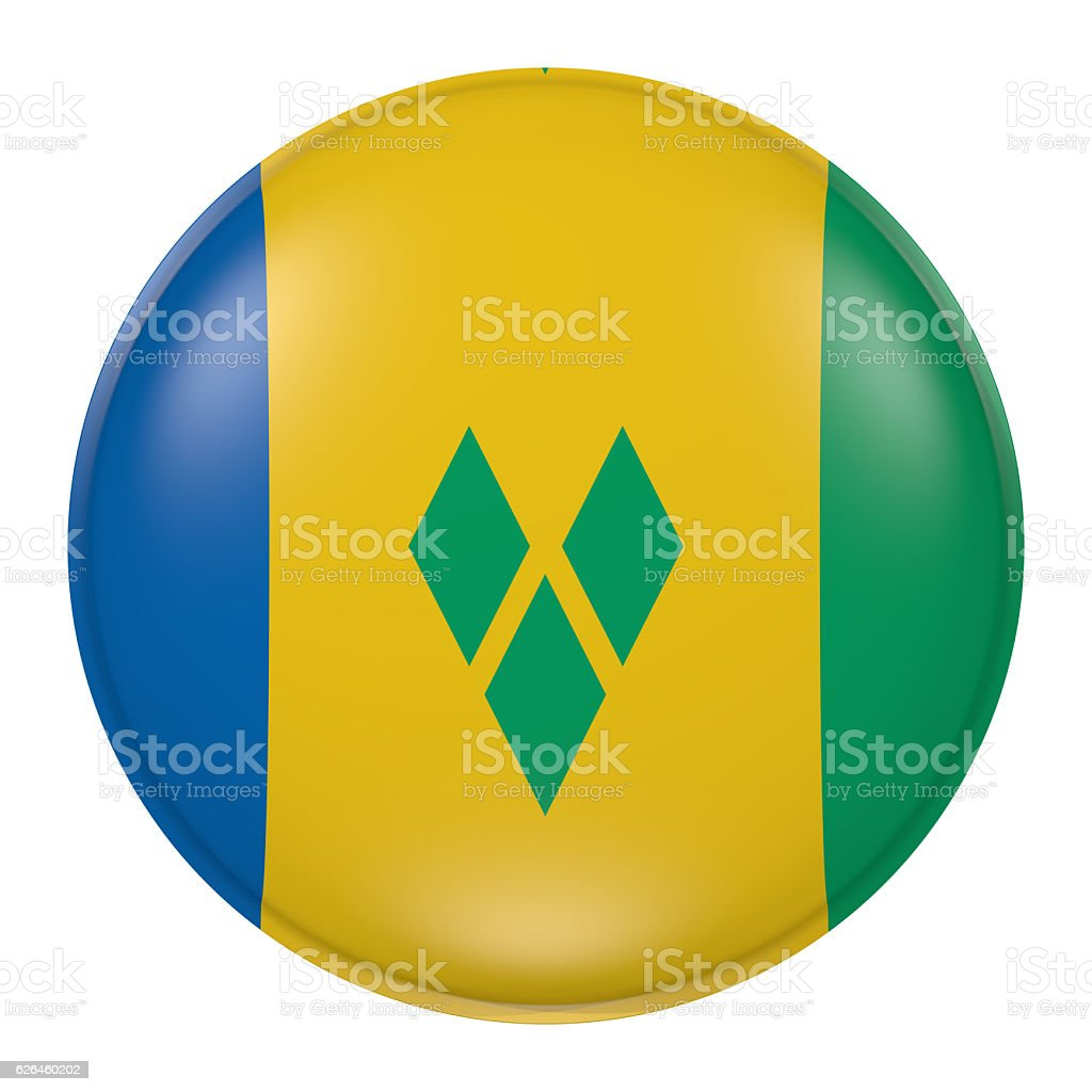 Saint Vincent and the Grenadines button stock photo