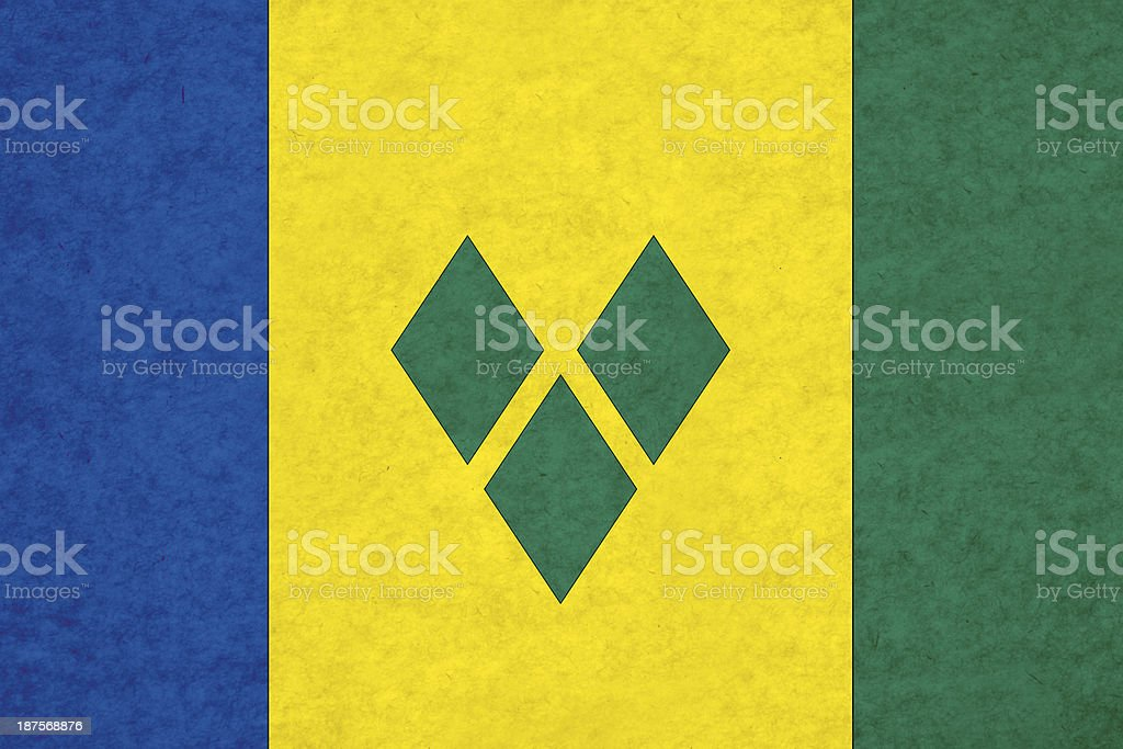 Saint Vincent and the Grenadines flag stock photo