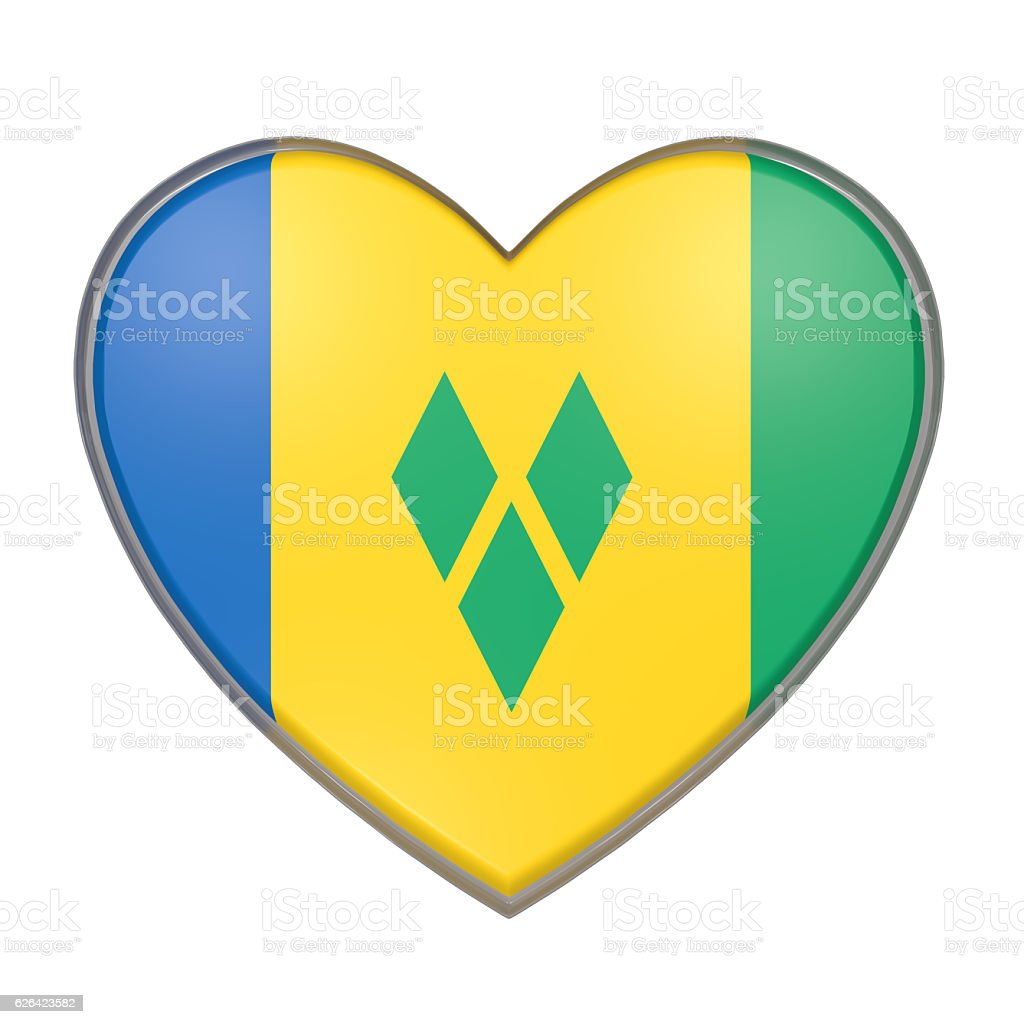 Saint Vincent and the Grenadines heart stock photo