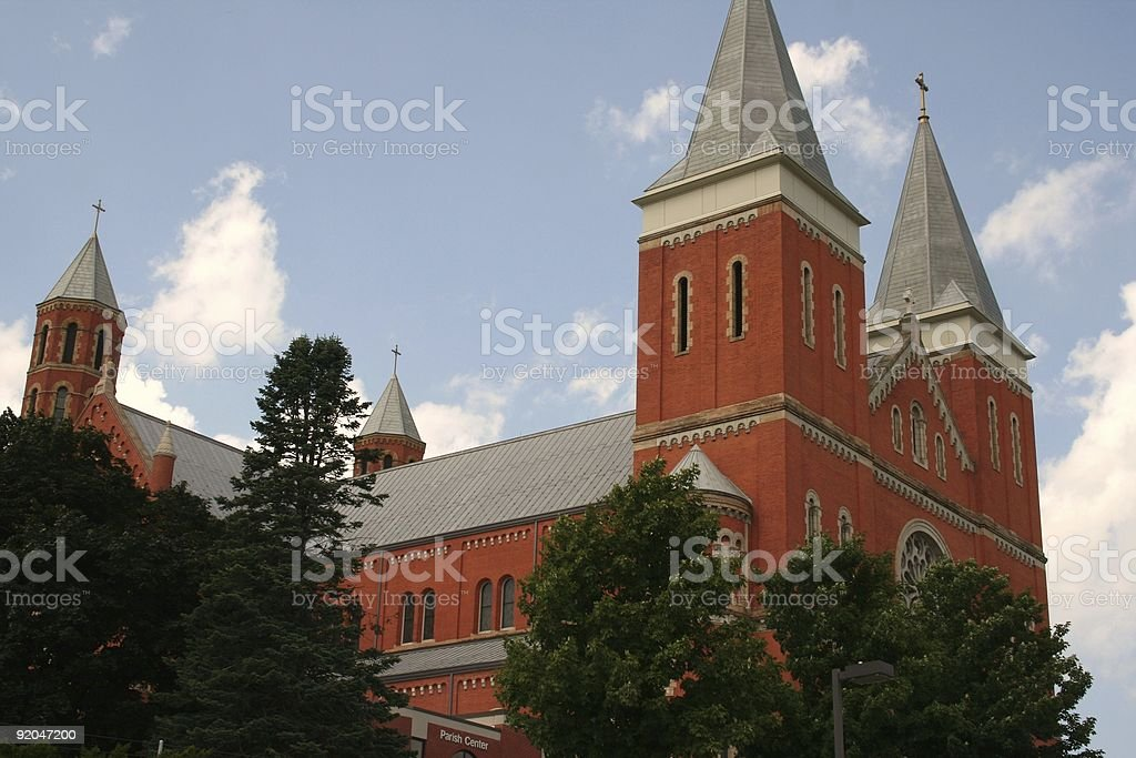 Saint Vincent College Parish stock photo
