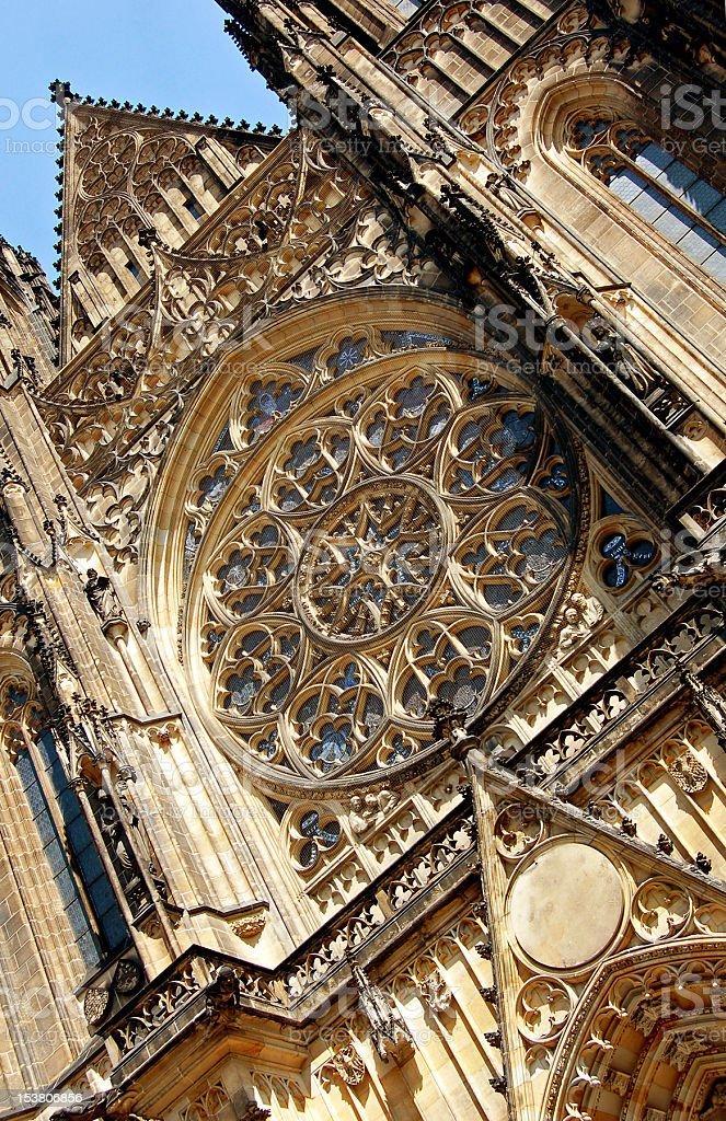 Saint Vitus' Cathedral detail stock photo