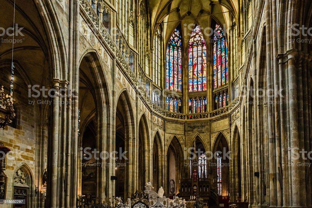 Saint Vitus Cathedral Interiors stock photo