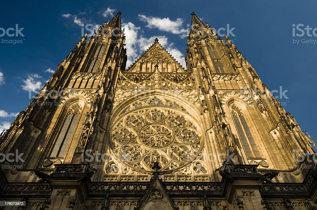 Saint Vitus cathedral royalty-free stock photo