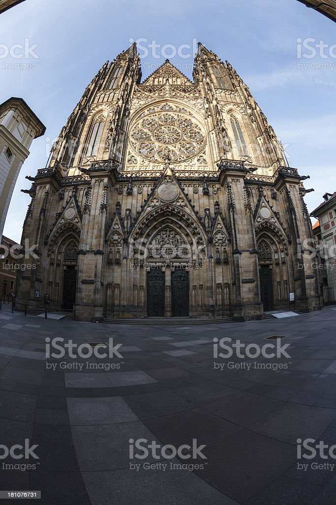 Saint Vitus cathedral, Prague royalty-free stock photo