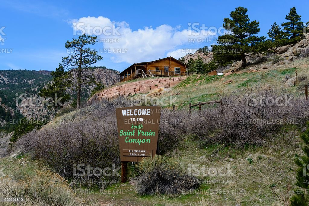 Saint Vrain Canyon, Colorado stock photo