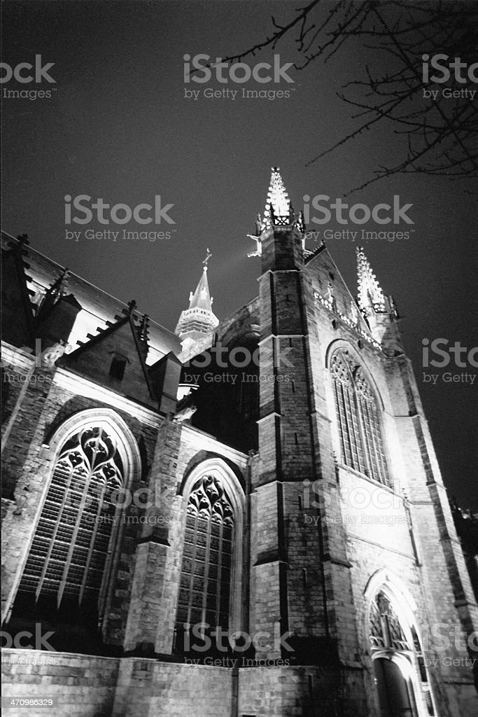 Sainte Waudru night2 royalty-free stock photo