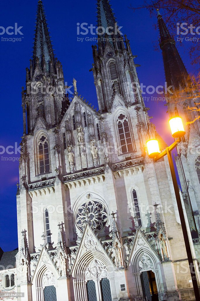 Saint Wenceslas Cathedral in Olomouc in the Czech Republic stock photo