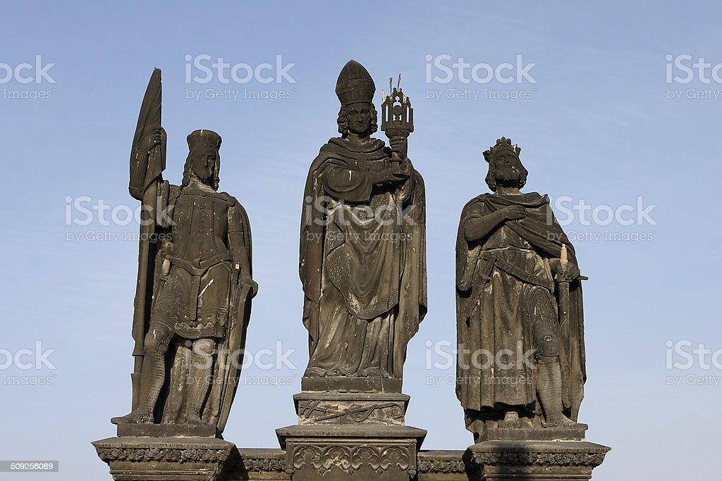 Saint Wenceslas, Saint Norbert and Saint Sigismund stock photo