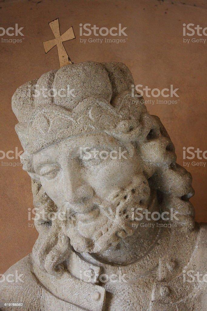 Saint Wenceslas statue stock photo