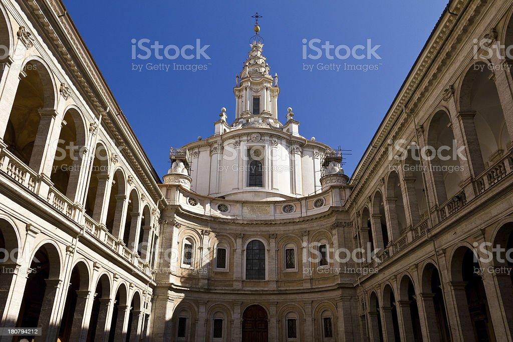 Saint Yves at La Sapienza - Rome royalty-free stock photo