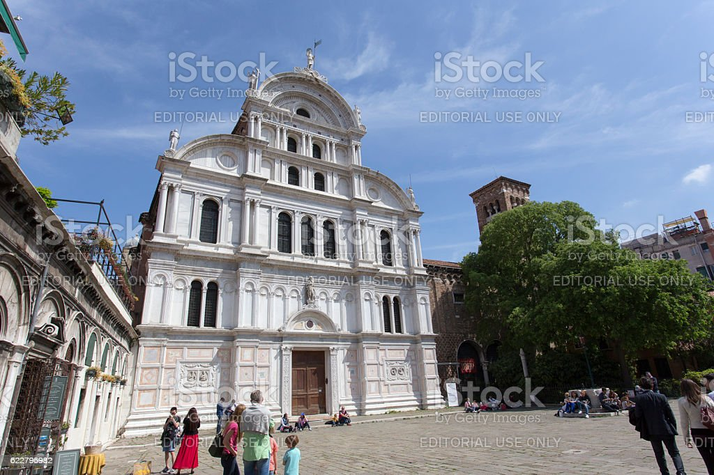 Saint Zaccaria church in Venice stock photo