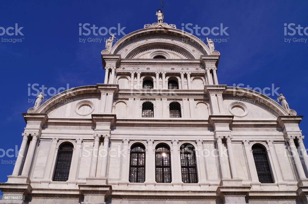 Saint Zaccaria church, Venice stock photo