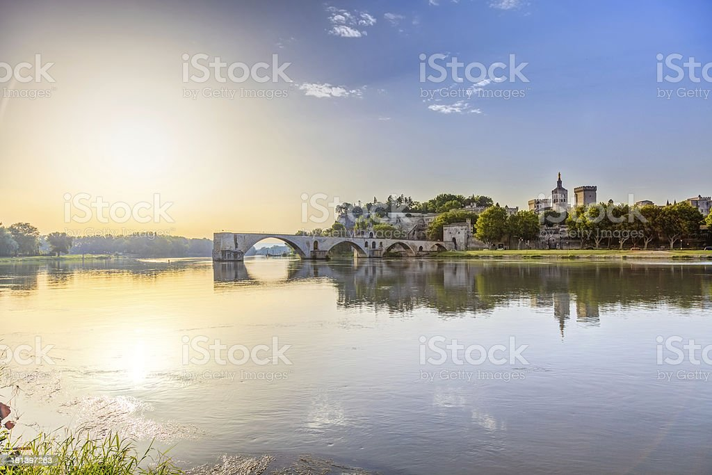 Saint-benezet in southeastern France stock photo