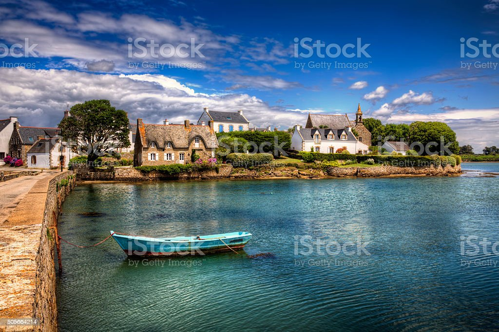 Saint-Cado, Brittany stock photo