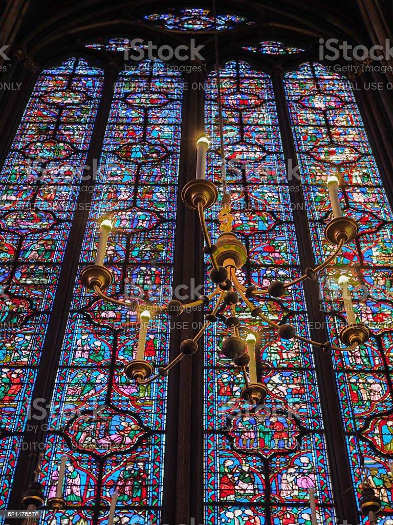 Sainte Chapelle Cathedral, Paris stock photo