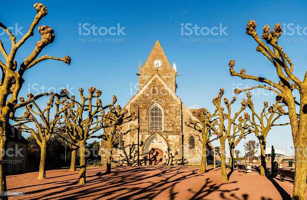 Sainte Mere Eglise stock photo