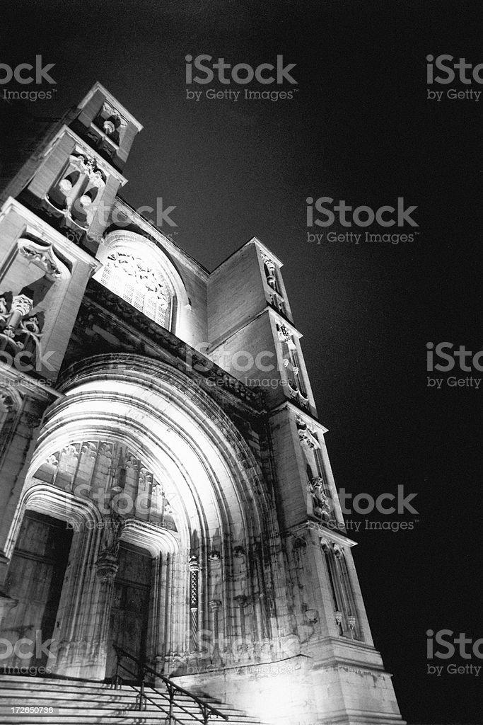 Sainte Waudru night1 stock photo