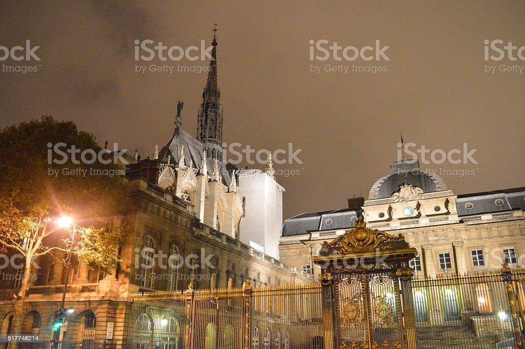 Sainte-Chapelle and Palais de Justice stock photo