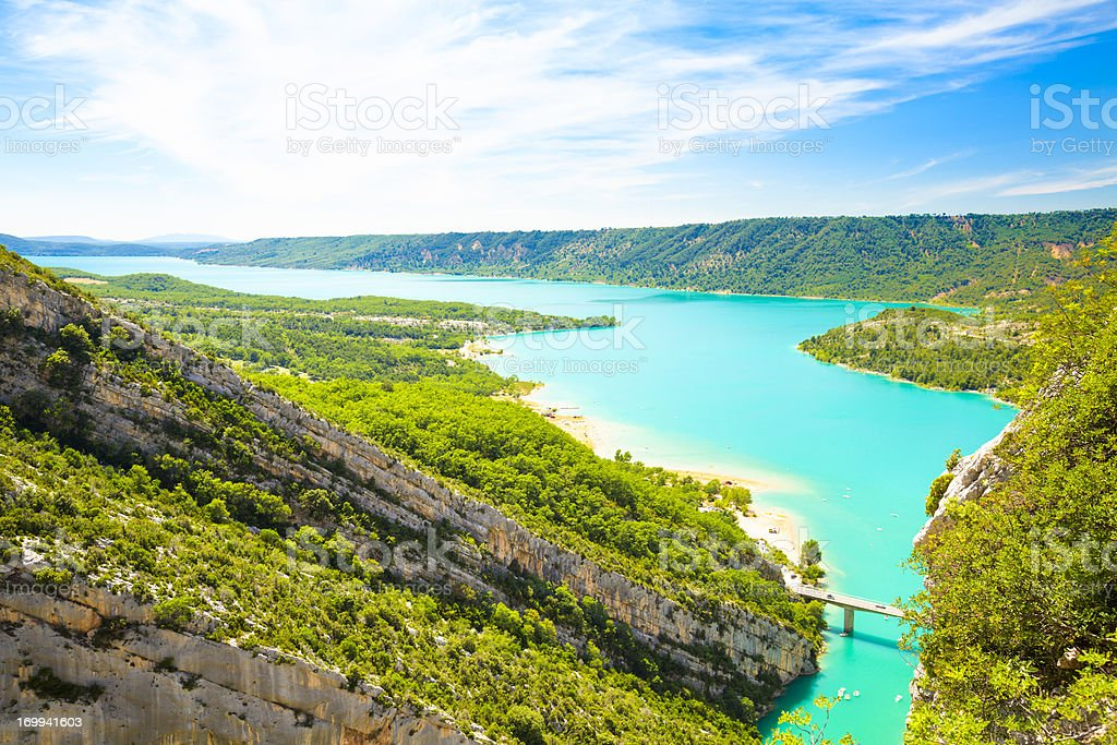 Sainte-Croix Lake, France stock photo