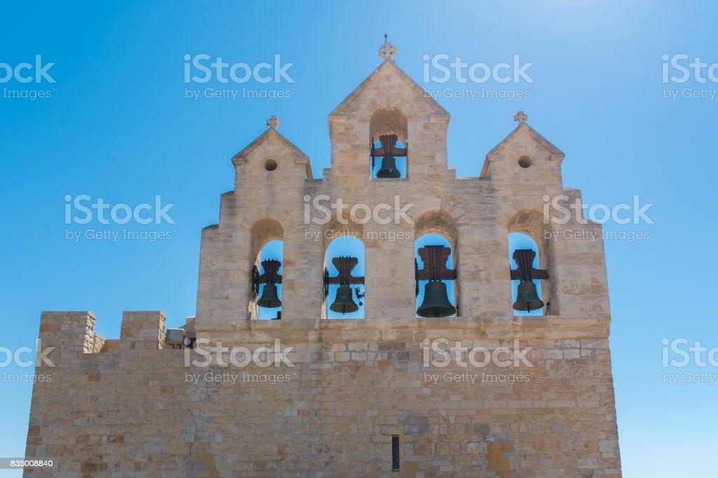 Saintes-Maries-de-la-Mer, bells stock photo