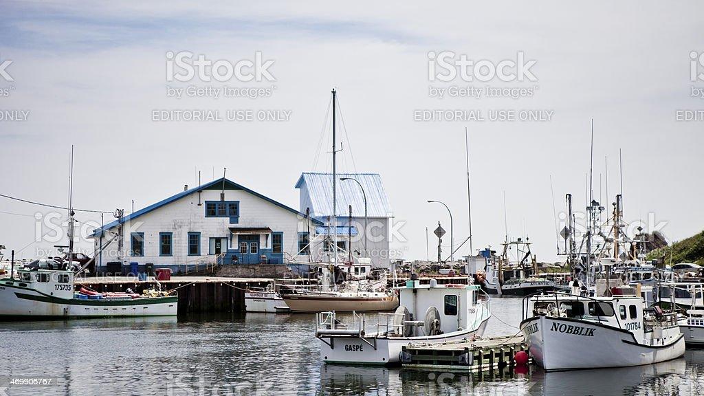 Sainte-Th?rese-De-Gasp? Harbour stock photo