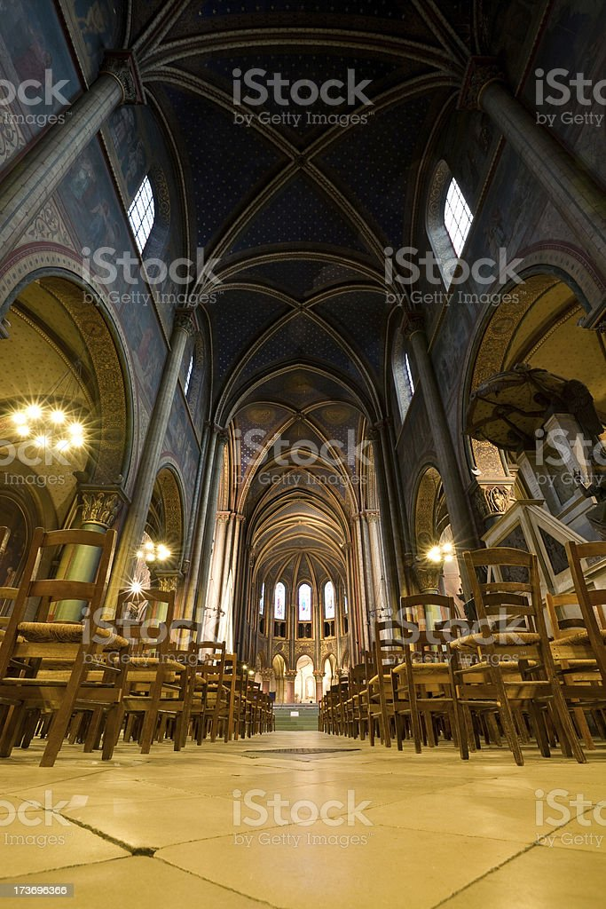 'Saint-Germain-des-Pres Church, Paris, France' stock photo