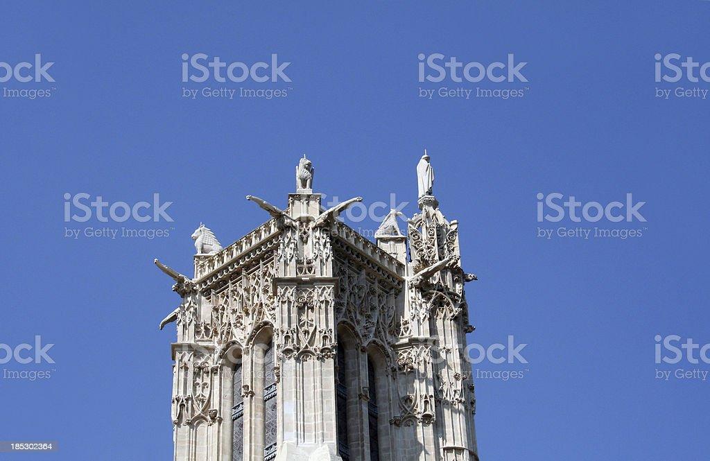 Saint-Jacques Tower detail stock photo