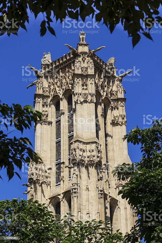 Saint-Jacques Tower royalty-free stock photo