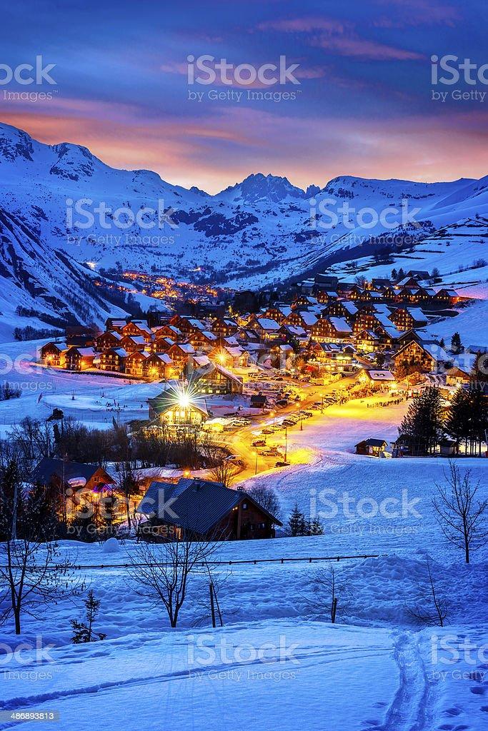Saint-Jean d'Arves, alps, France stock photo