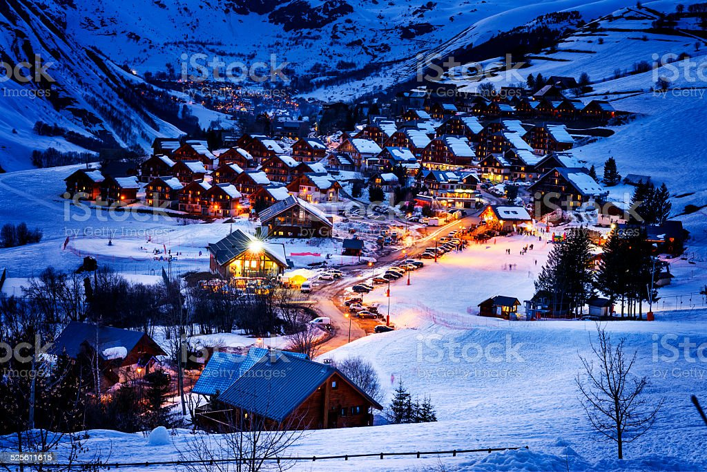 Saint-Jean d'Arves, alps, France stock photo