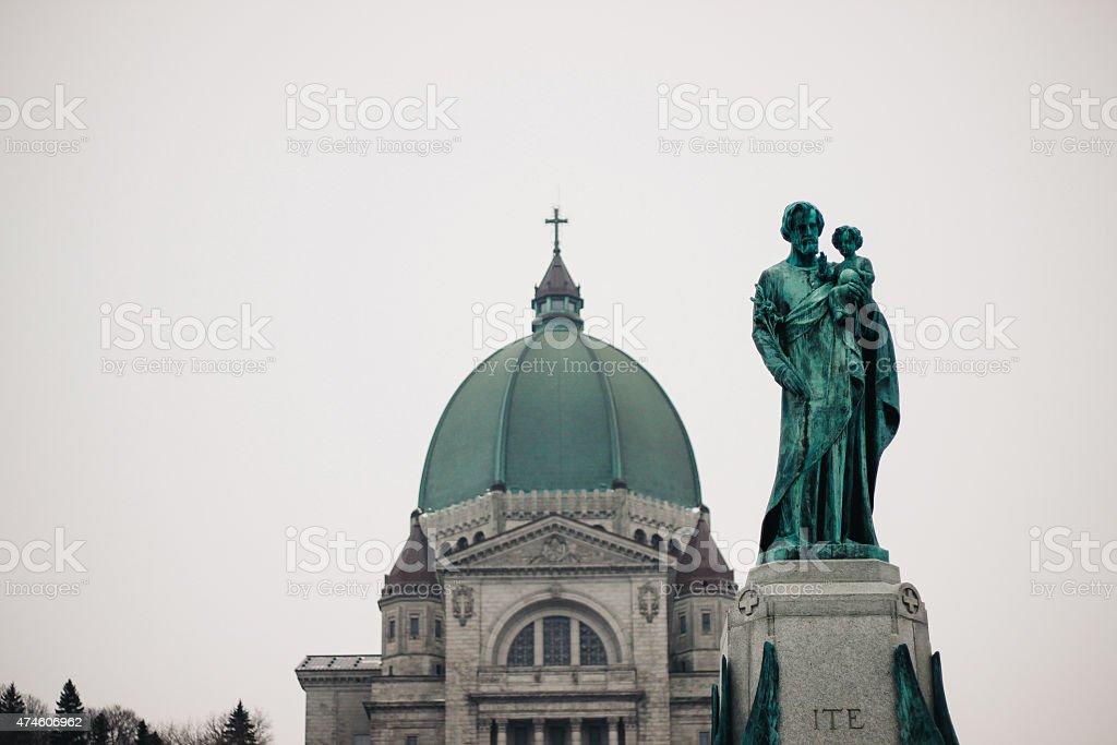 Saint-Joseph's Oratory of Montreal stock photo
