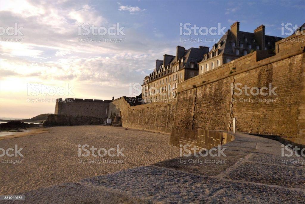 Saint-Malo, Brittany, France stock photo